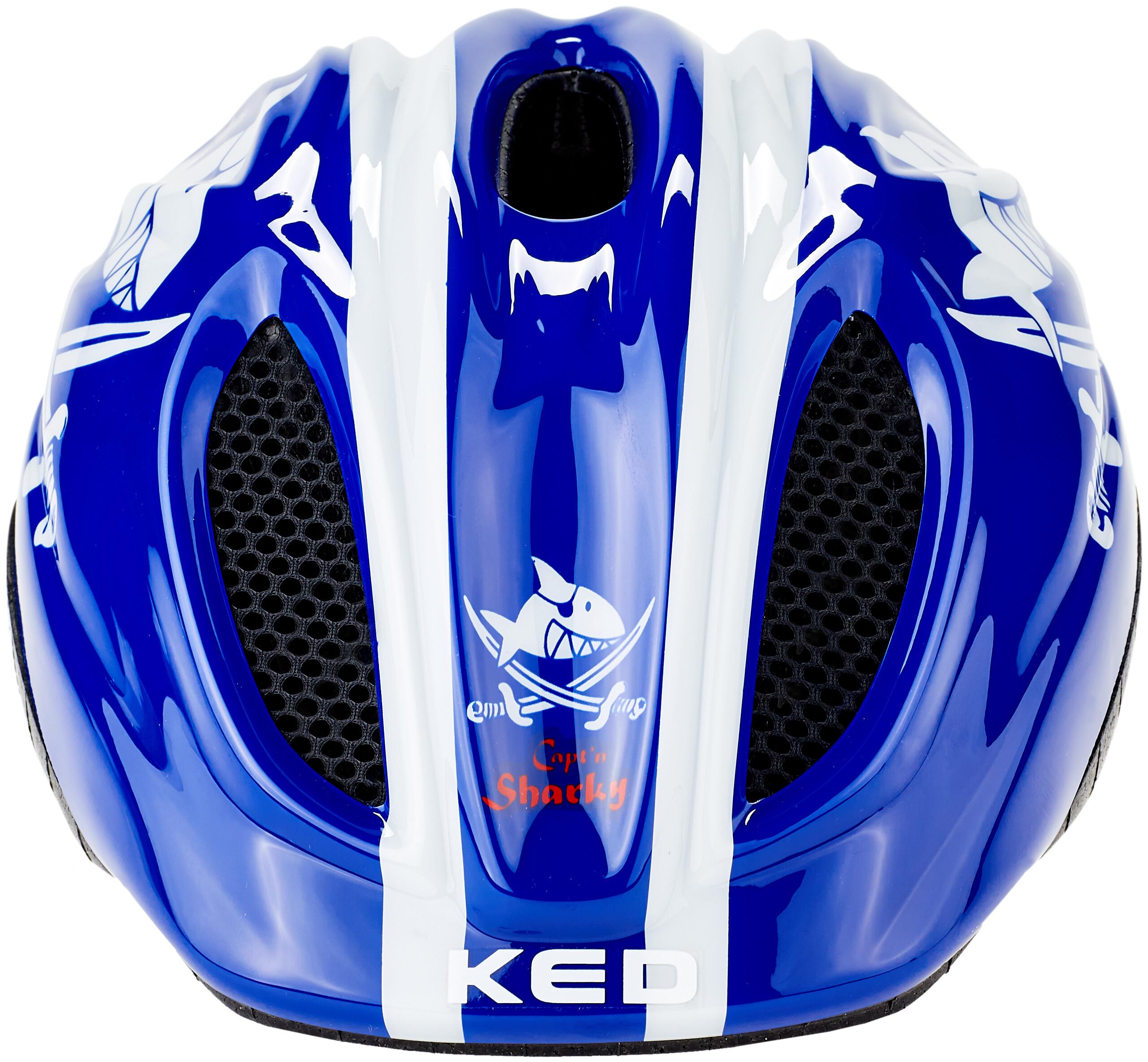 KED Meggy Casco de Bicicleta para ni/ños Flor Azul Claro